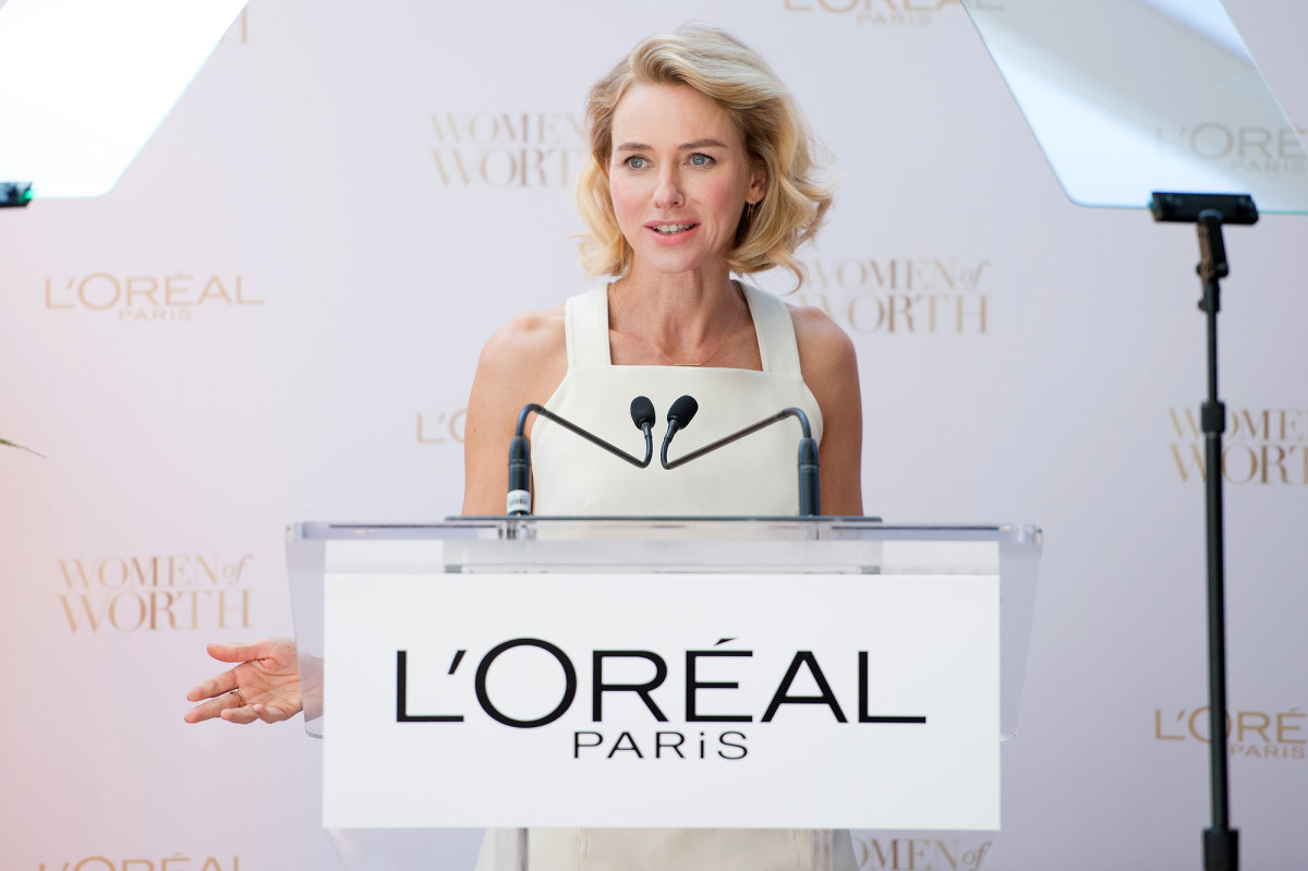 Naomi Watts at the TIFF 2016 launch of the L'Oréal Paris Women of Worth Canada