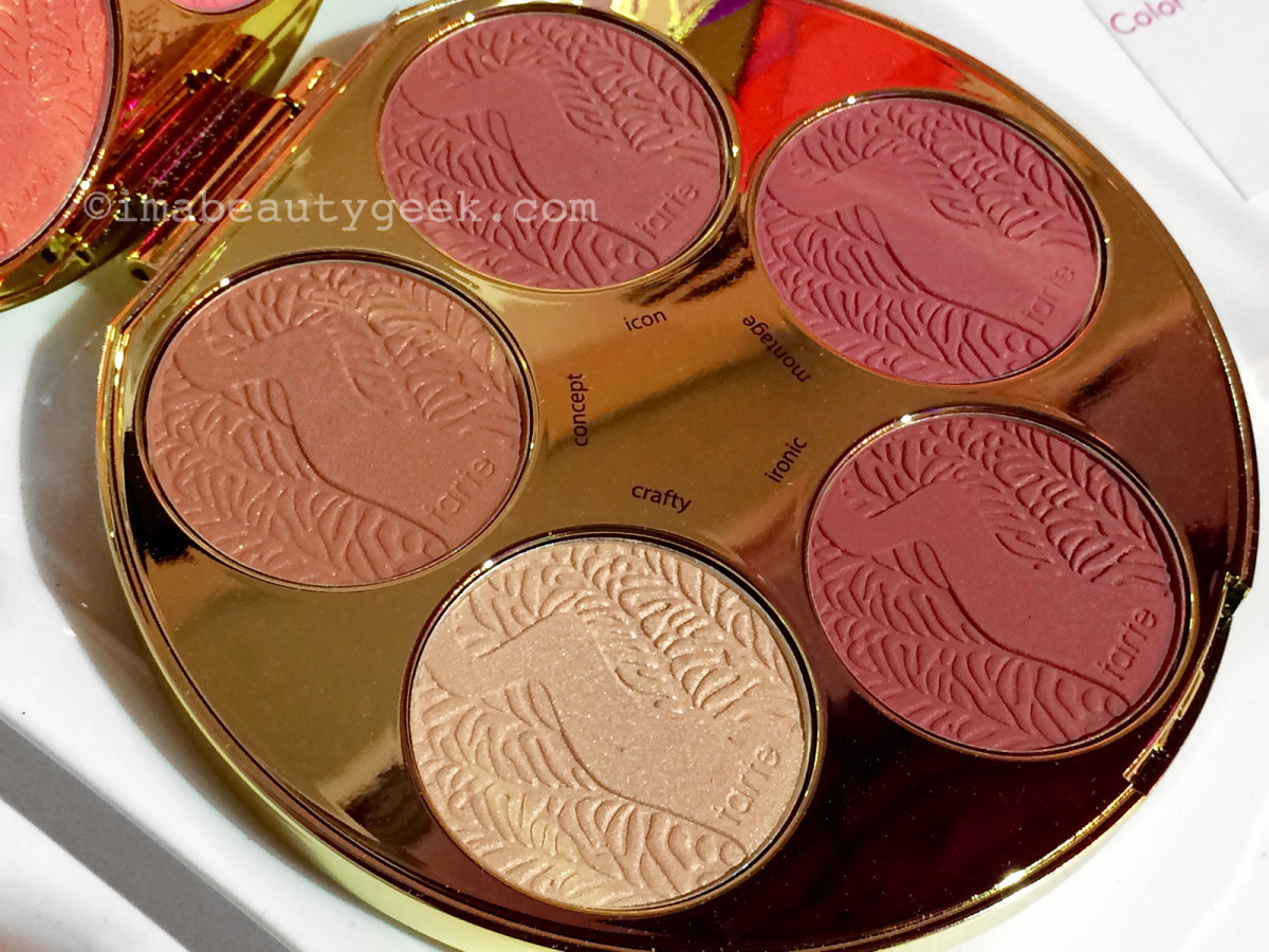 Tarte Color Wheel Amazonian Clay Blush Palette lower-pan blushes