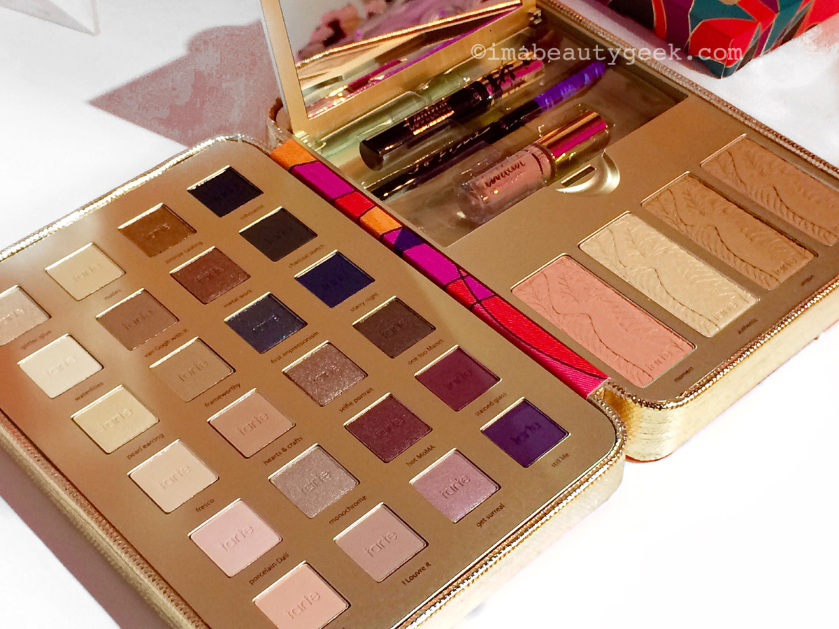 Tarte Pretty Paintbox Collector's Makeup Case open