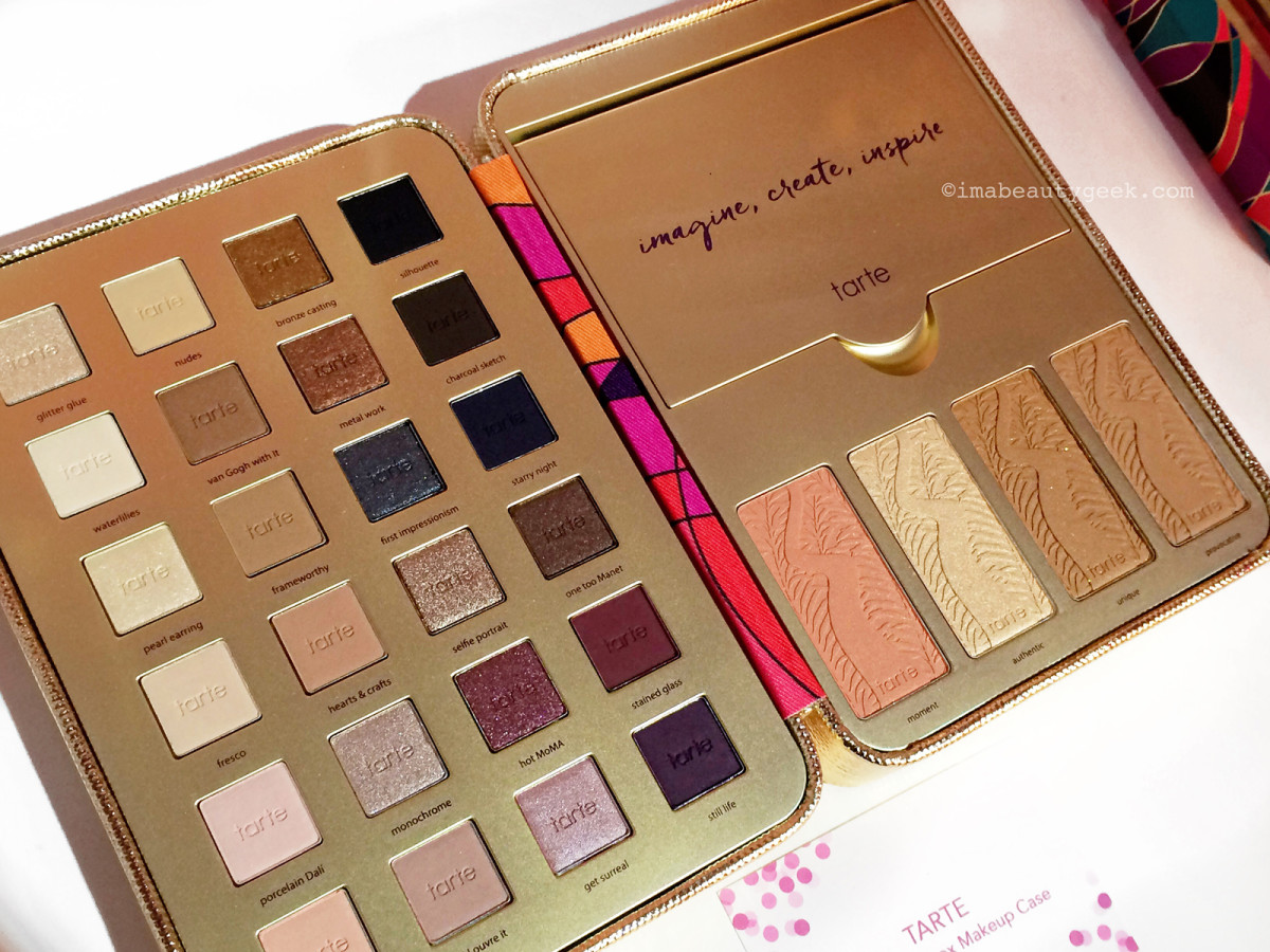 Tarte Pretty Paintbox Collector's Makeup Case eyeshadows and cheek shades