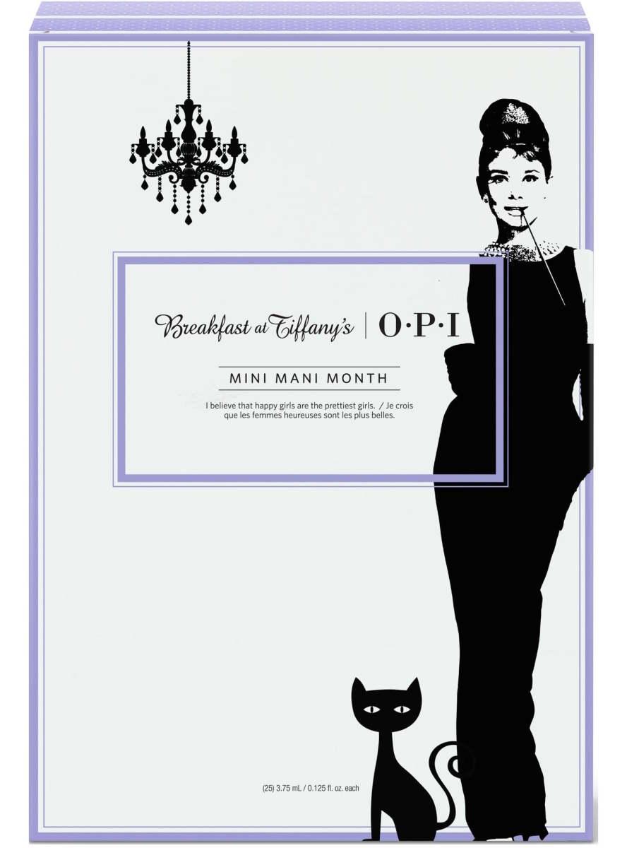 OPI Mini Mani Month Breakfast at Tiffanys Holiday 2016