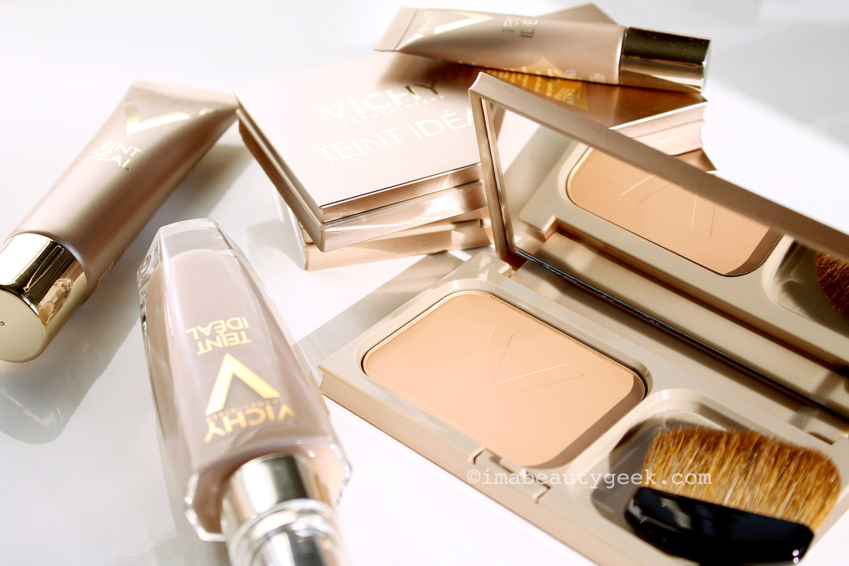 Vichy Teint Ideal makeup collection_foundation, illuminator, bronzer