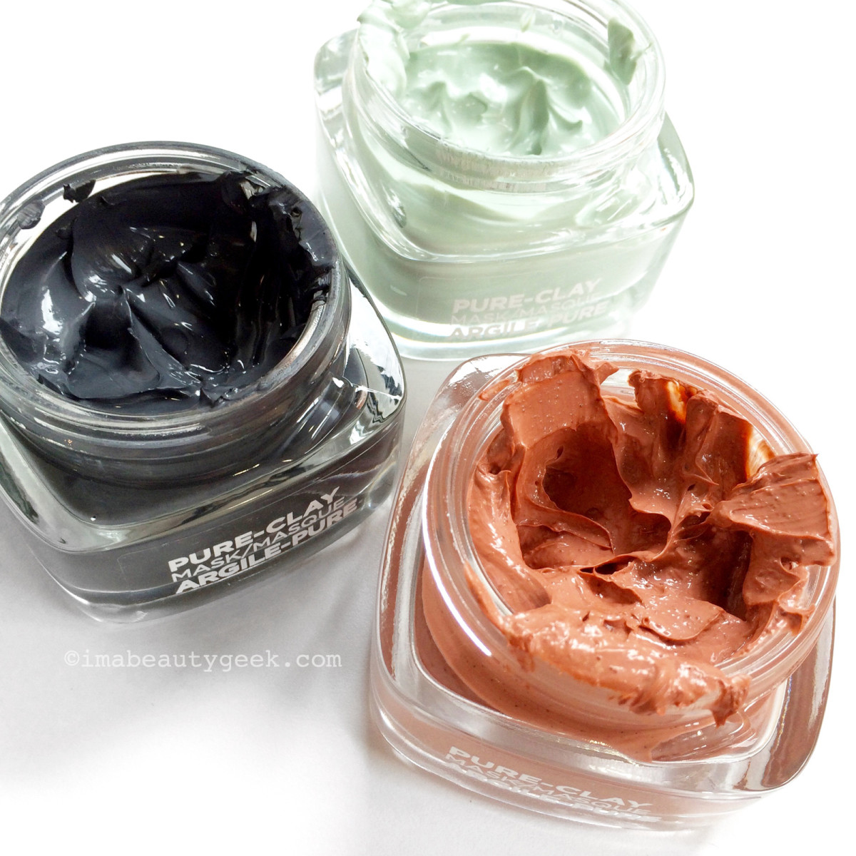 L'Oreal Paris Pure-Clay Masks Charcoal, Eucalyptus, Red Algae