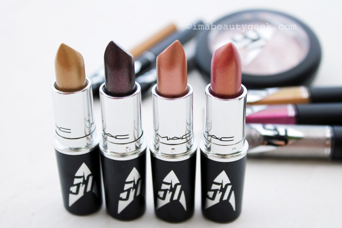 MAC Star Trek lipsticks