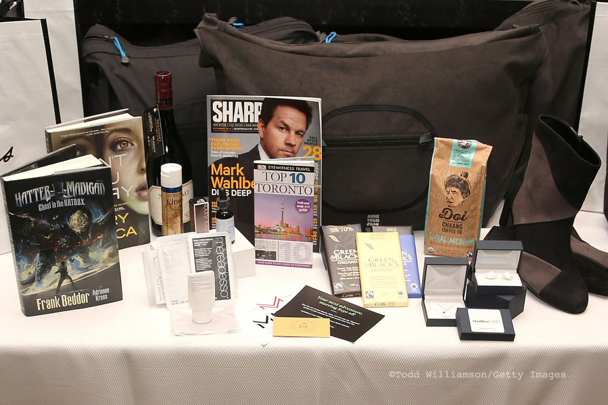 A selection of gifts slated for celebrity TIFF 2016 attendees at the Thompson Hotel