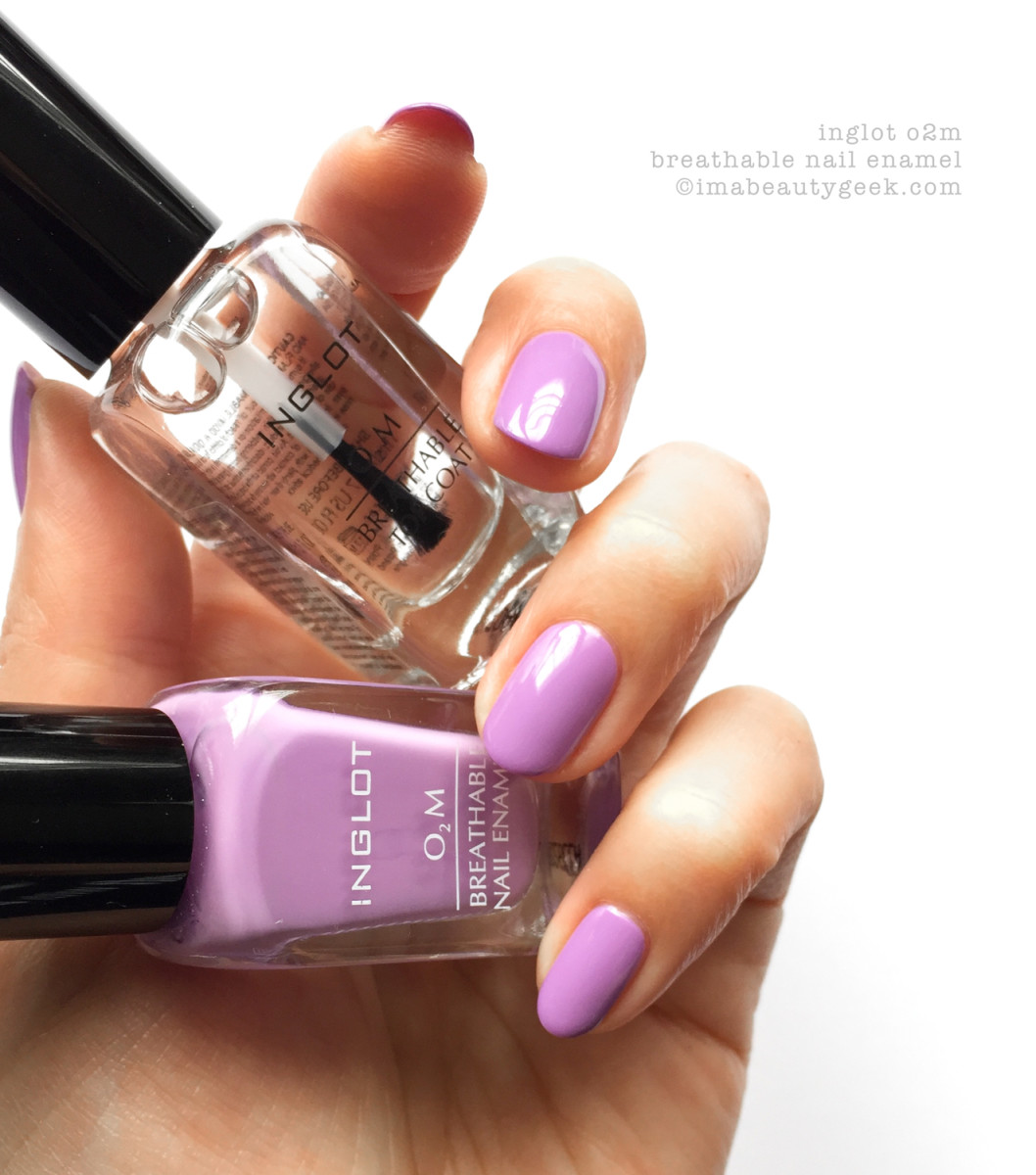 Inglot O2m Breathable Nail Enamel Swatches Review Beautygeeks