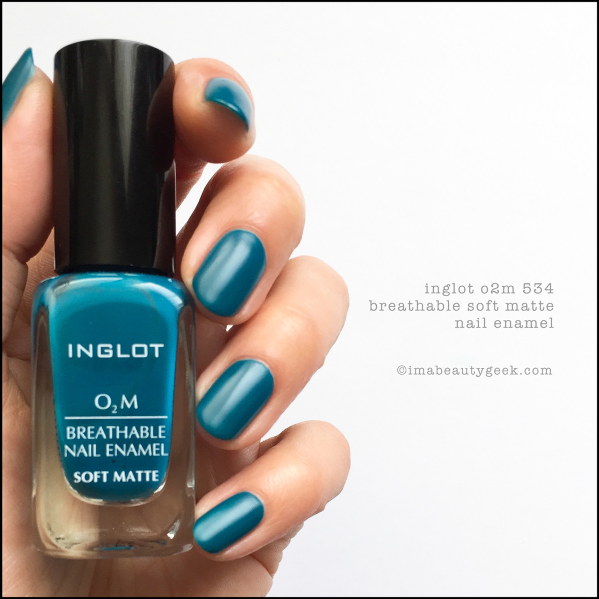 Inglot o2m 534 Breathable Nail Enamel_Inglot 534 matte nail polish