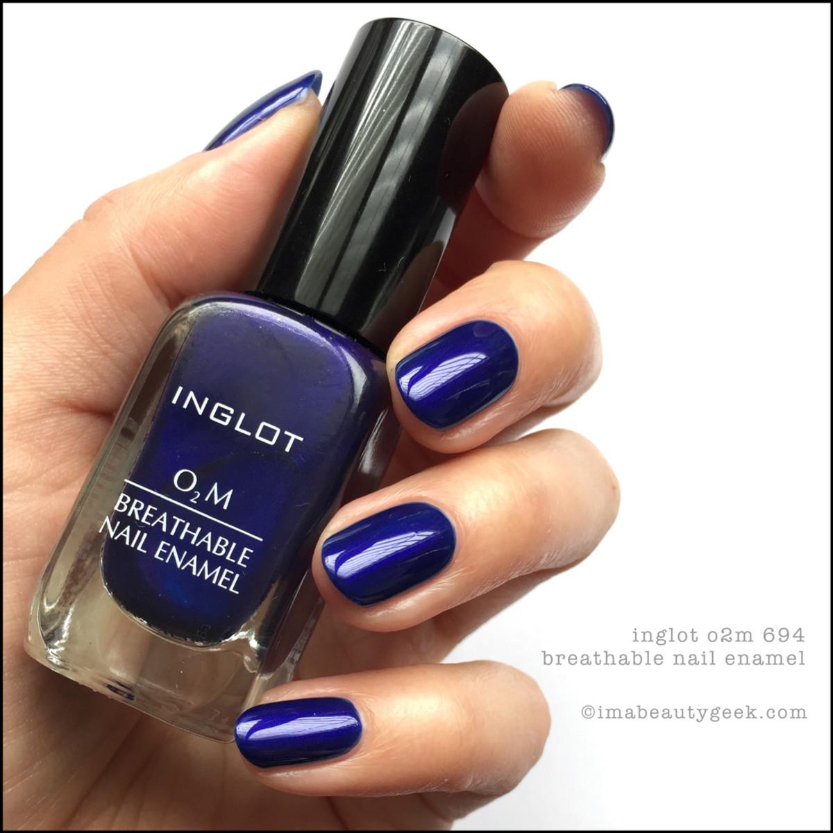 Inglot o2m Breathable Nail Enamel_Inglot 694 Nail Polish