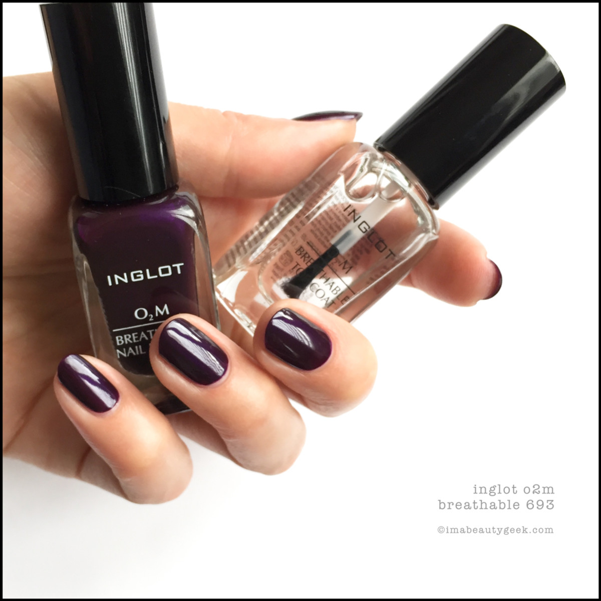 Inglot O2M Breathable 693_Inglot Breathable Nail Polish Swatches