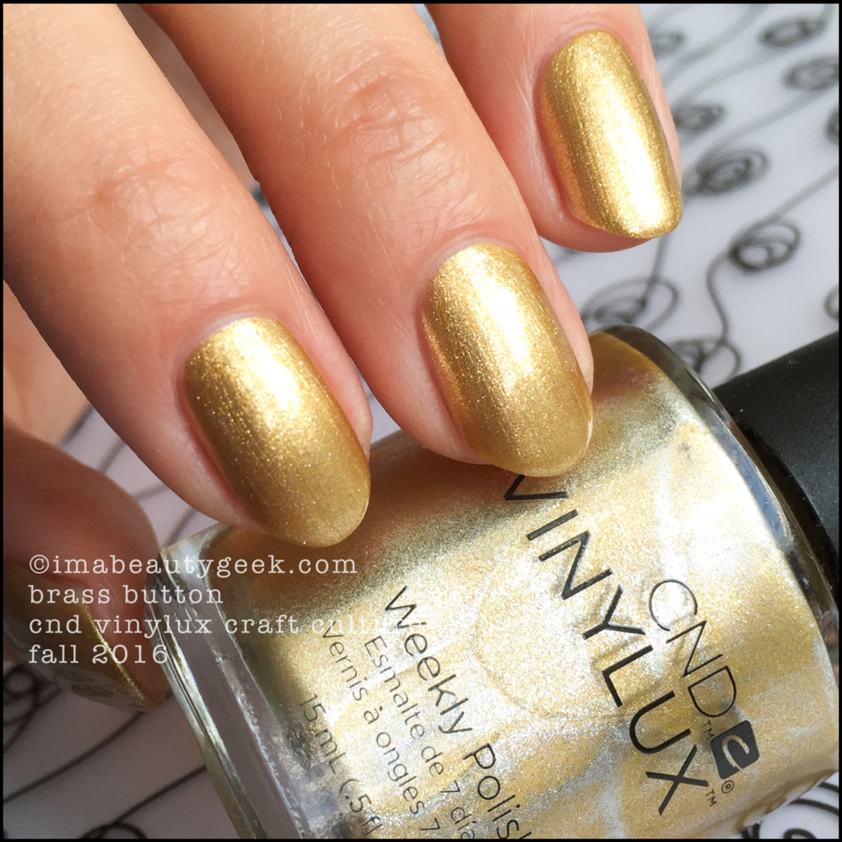 CND Vinylux Brass Button_CND Vinylux Craft Cutlure Collection Fall 2016