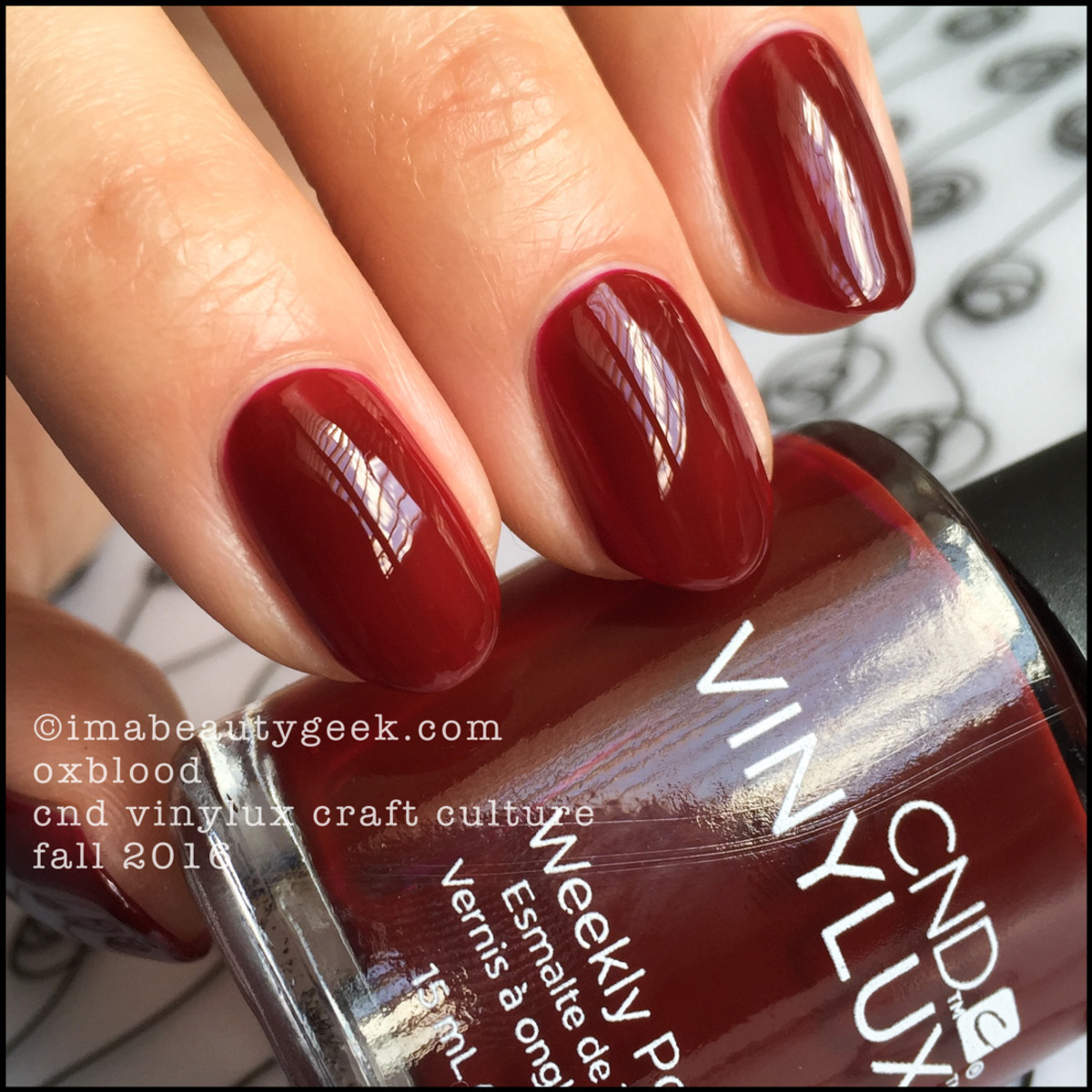 CND Vinylux Oxblood_CND Vinylux Craft Culture Collection Swatches Fall 2016