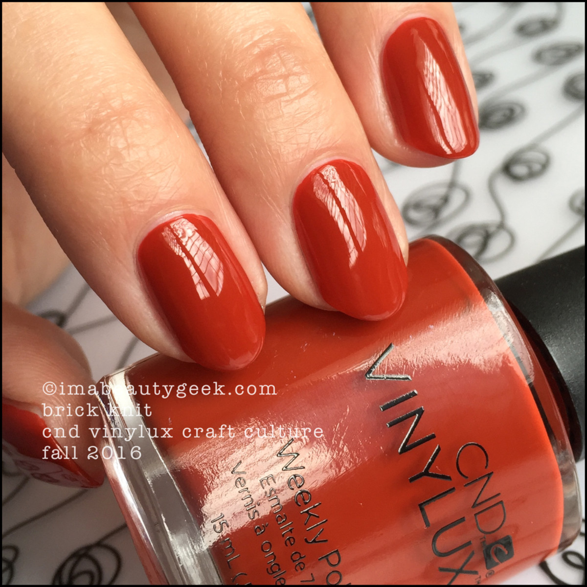 CND Vinylux Brick Knit_CND Vinylux Craft Culture Fall 2016