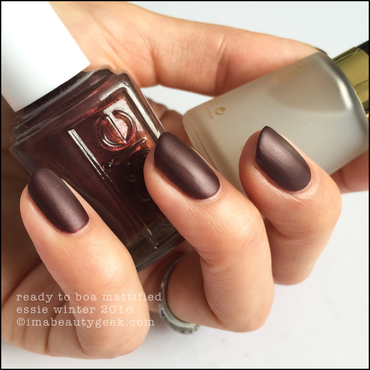 Essie Ready to Boa Mattified_Essie Winter 2016 Collection Swatches Review