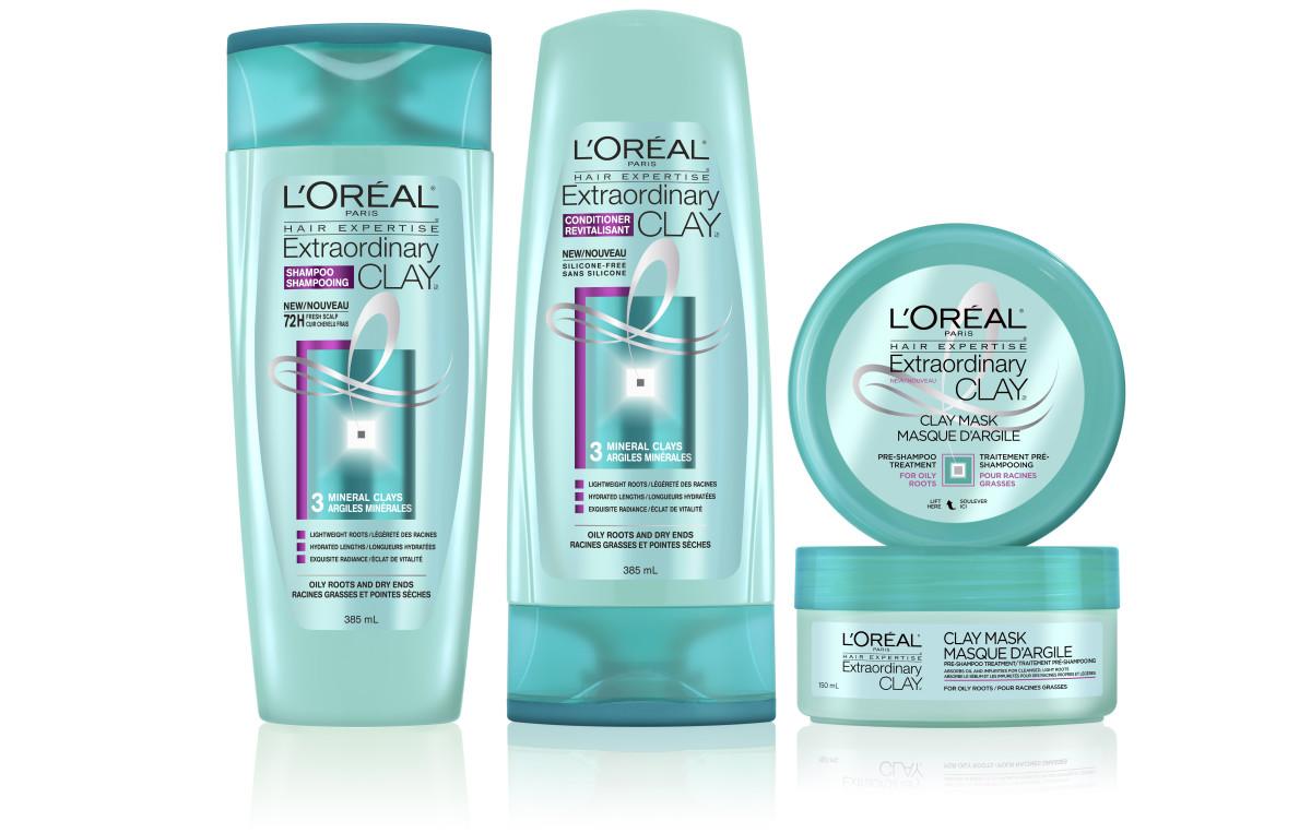 L'Oreal Paris Extraordinary Clay shampoo, conditioner and pre-shampoo treatment