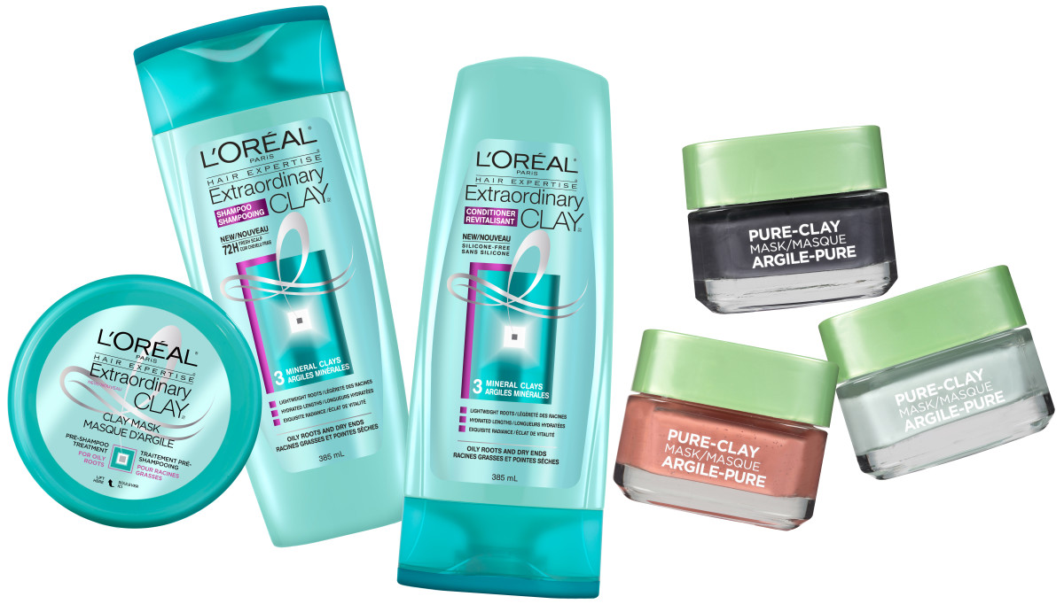 Enter to win one of 5 L'Oreal Paris clay collections for hair and face!