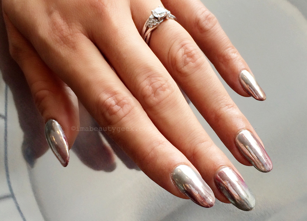 Ombre Chrome Manicure By Nargis Khan Tips Nail Bar