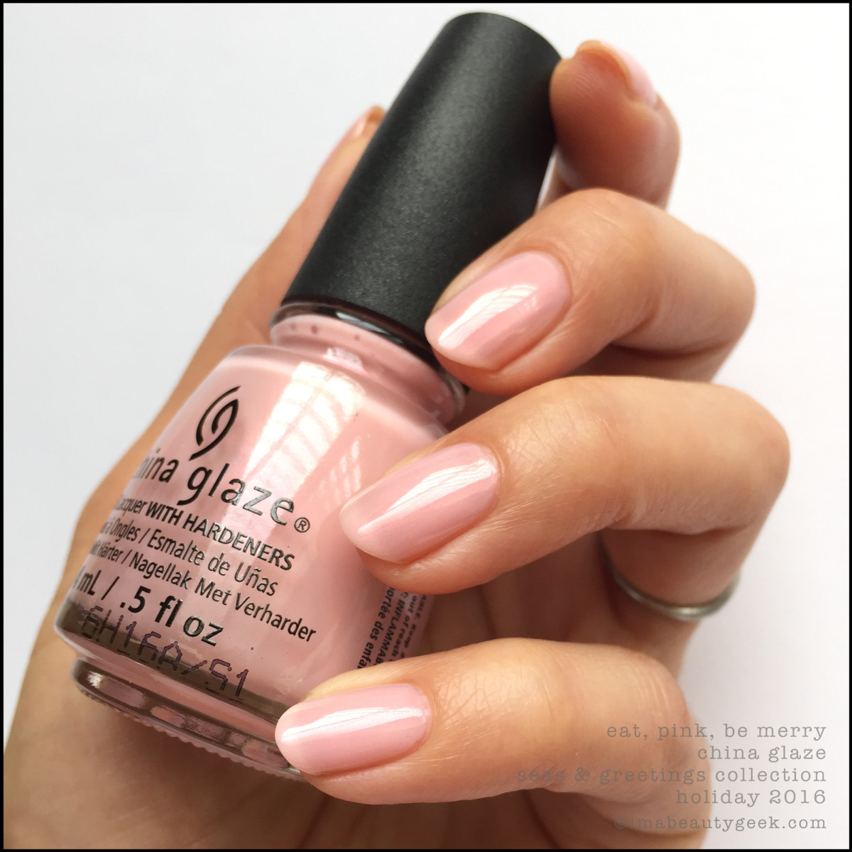 China Glaze Eat Pink Be Merry_China Glaze Seas Greetings Holiday 2016 Swatches Review