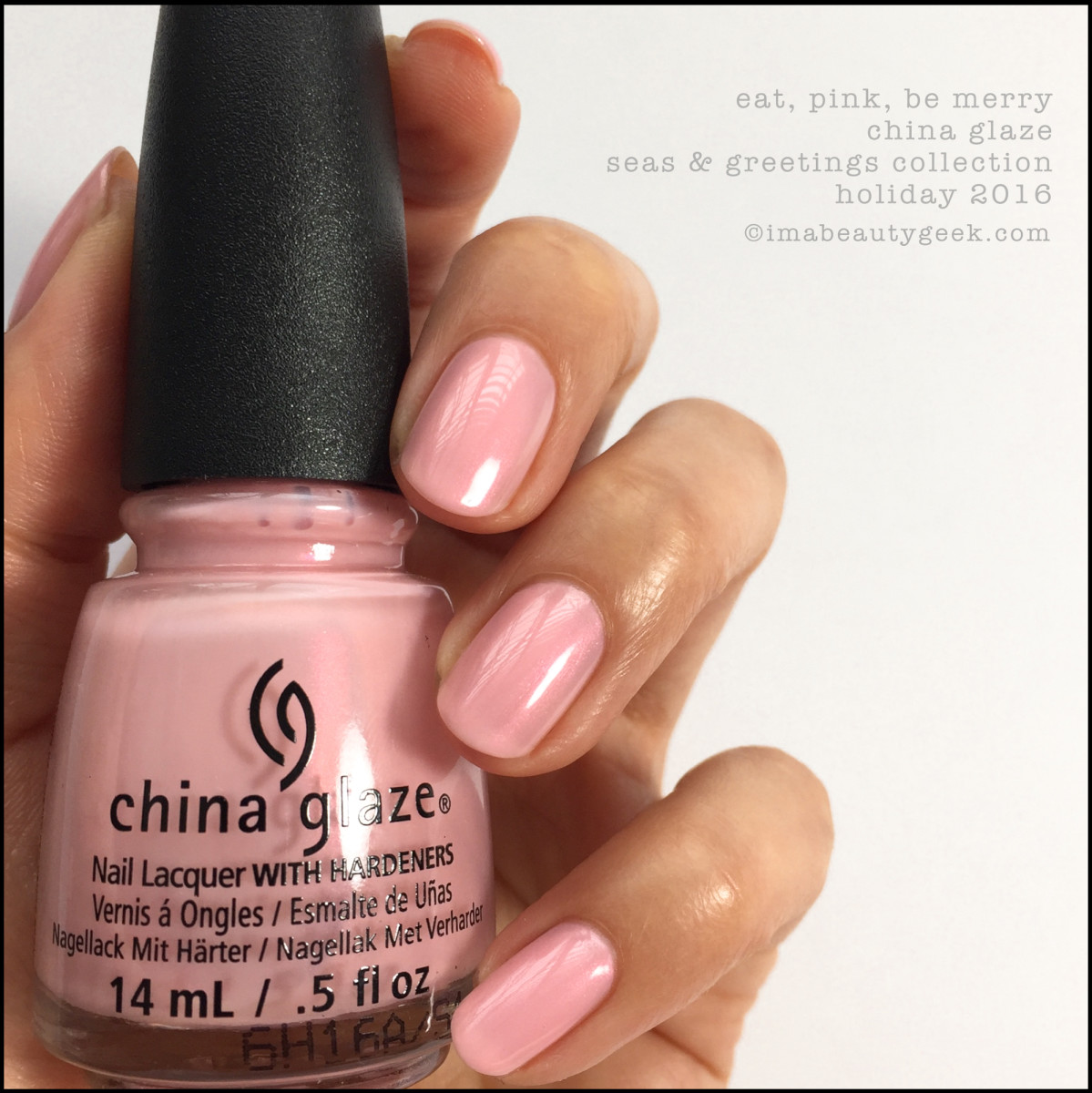 China Glaze Eat Pink Be Merry Artificial_China Glaze Seas Greetings Holiday 2016 Swatches Review