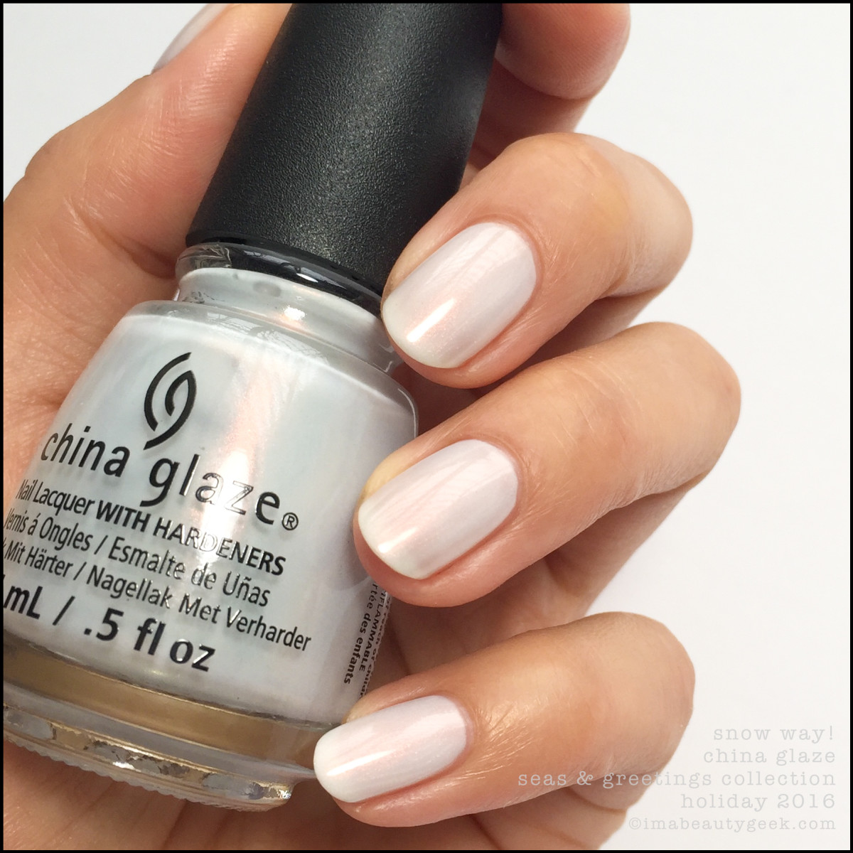 China Glaze Snow Way_China Glaze Seas and Greetings Collection Swatches Review Holiday 2016