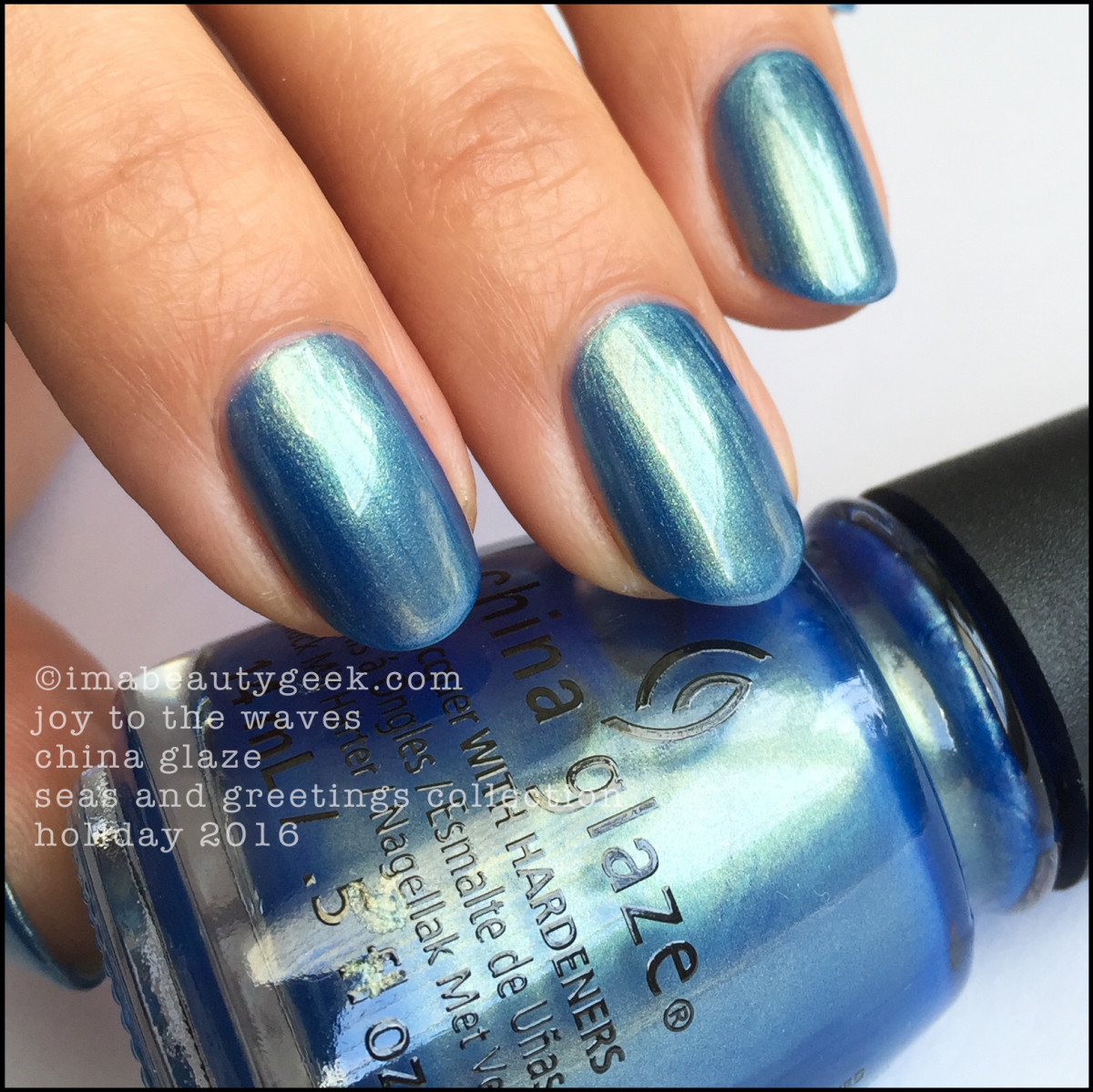 China glaze seas and greetings holiday 2016 collection swatches and china glaze joy to the waves m4hsunfo