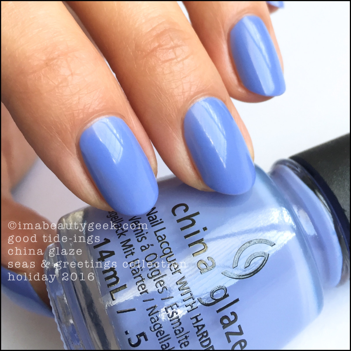 China Glaze Good Tideings_China Glaze Seas Greetings Holiday 2016 Swatches Review