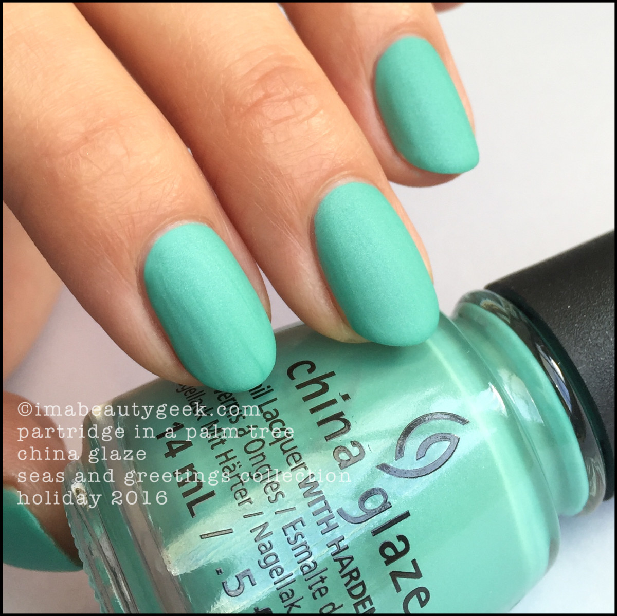 China Glaze Partridge in a Palm Tree_China Glaze Seas and Greetings Holiday 2016 Swatches Review