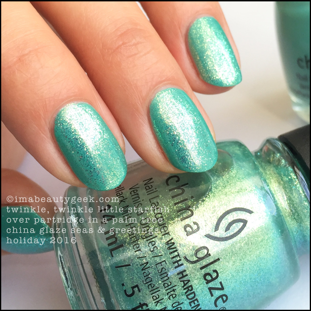 China Glaze Twinkle Twinkle Little Starfish over Partridge_China Glaze Seas Greetings Holiday 2016 Collection Swatches Review