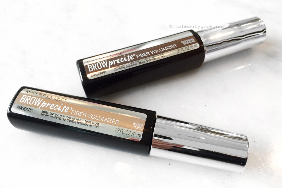 ede5772bd3e Maybelline Brow Precise Fiber Volumizer Mascara brow grooming gel in Blonde  and Soft Brown
