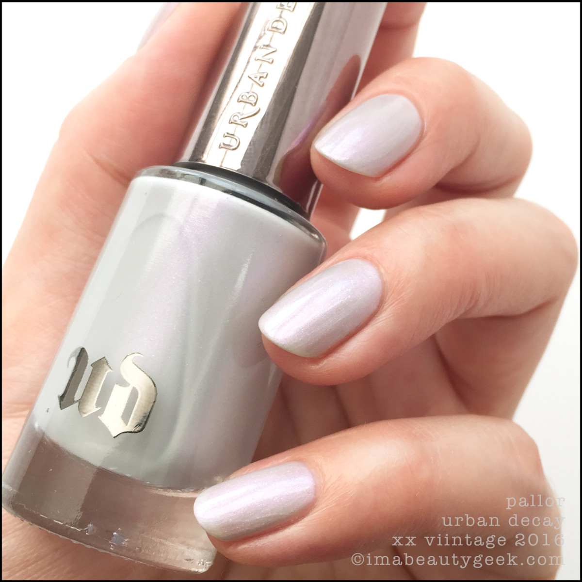 Urban Decay Pallor Nail Polish Vintage Swatches Review 2016