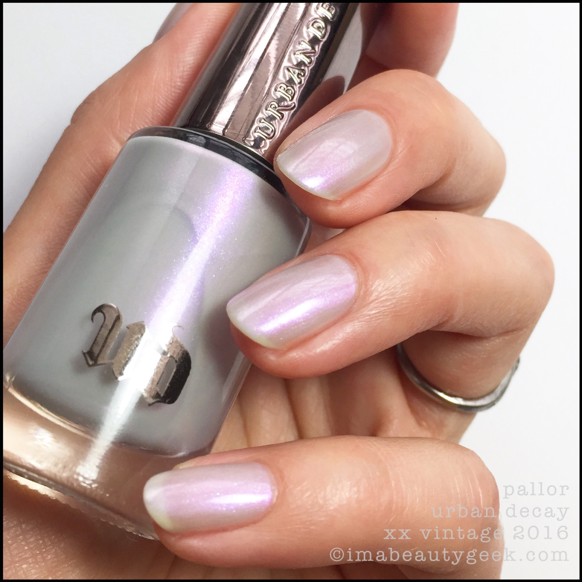 Urban Decay Pallor Nail Polish Vintage Swatches 2016