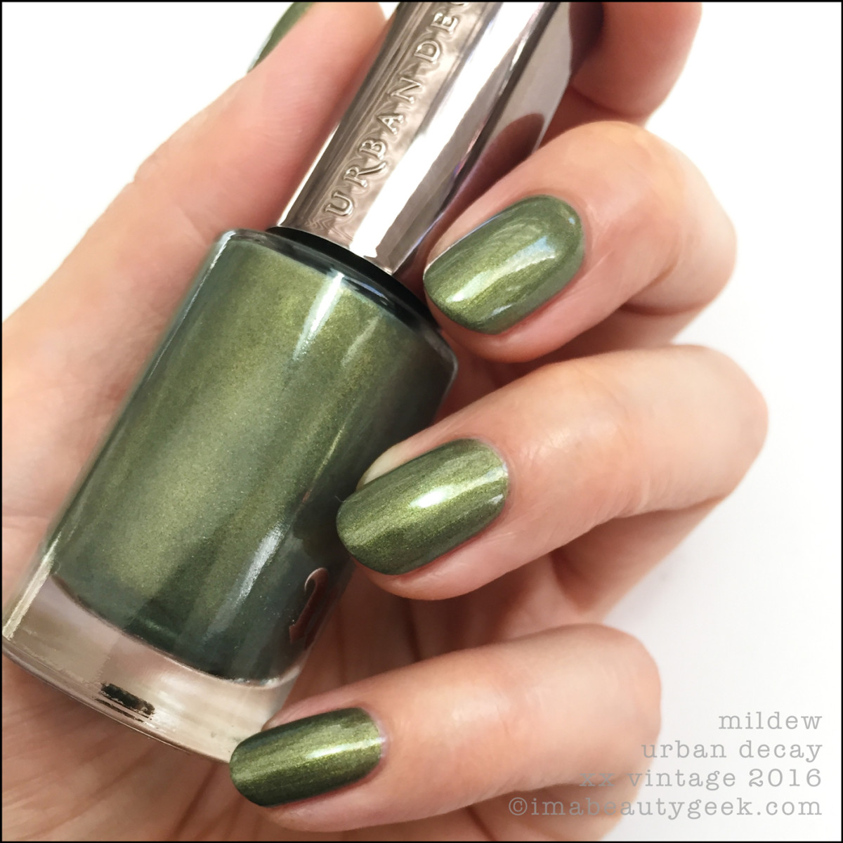 Urban Decay Mildew XX Vintage_Urban Decay Vice Vintage Nail Polish Swatches Review