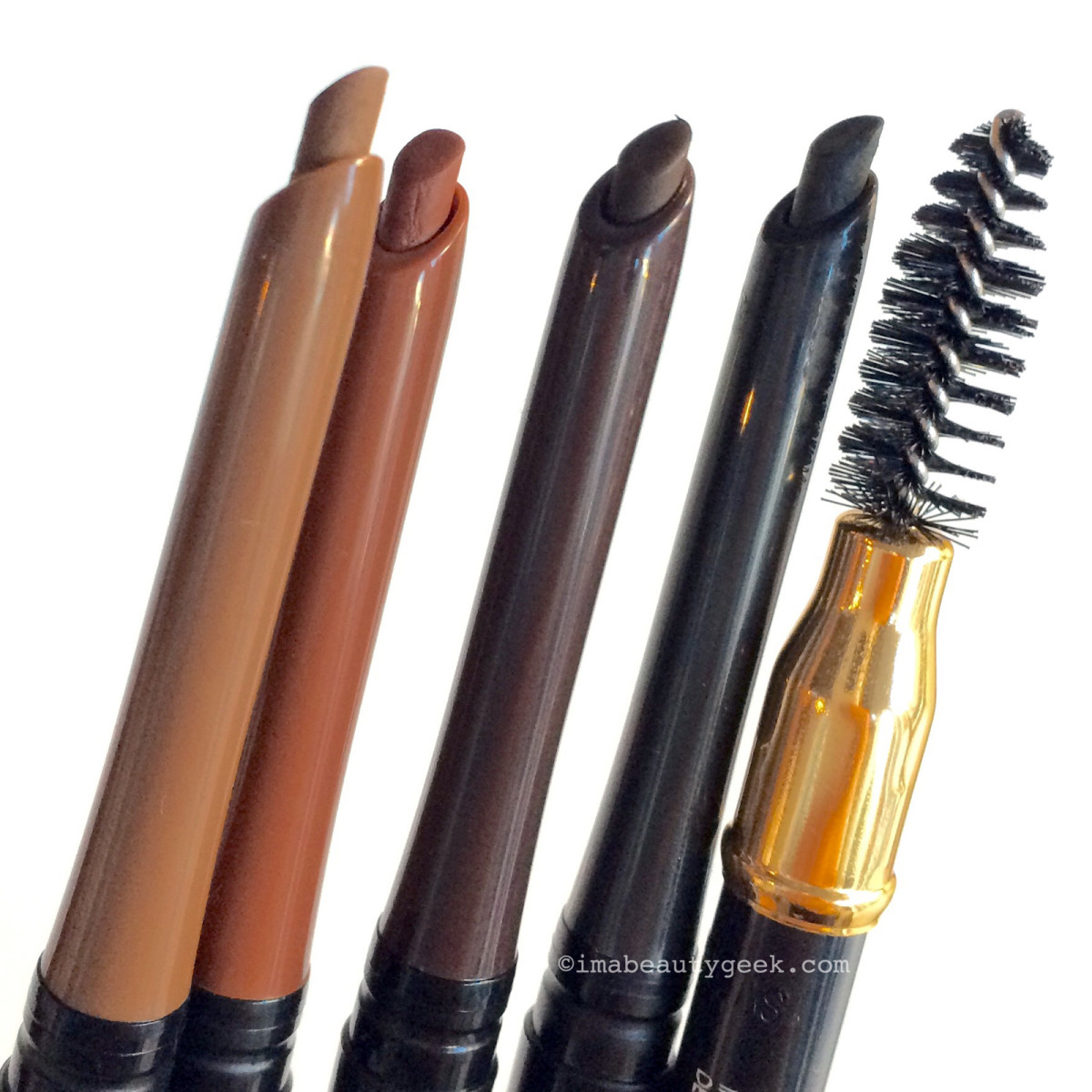Revlon ColorStay Brow Pencils in Soft Brown, Auburn, Dark Brown, and Soft Black