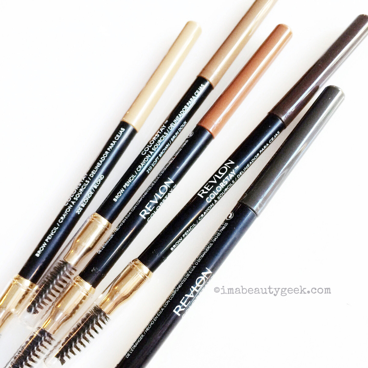 New Revlon ColorStay Brow Pencils in Blonde, Soft Brown, Auburn, Dark Brown, and Soft Black