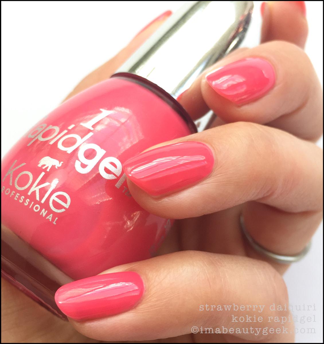 Kokie Nail Polish Strawberry Daiquiri_Kokie Nail Polish Swatches Review