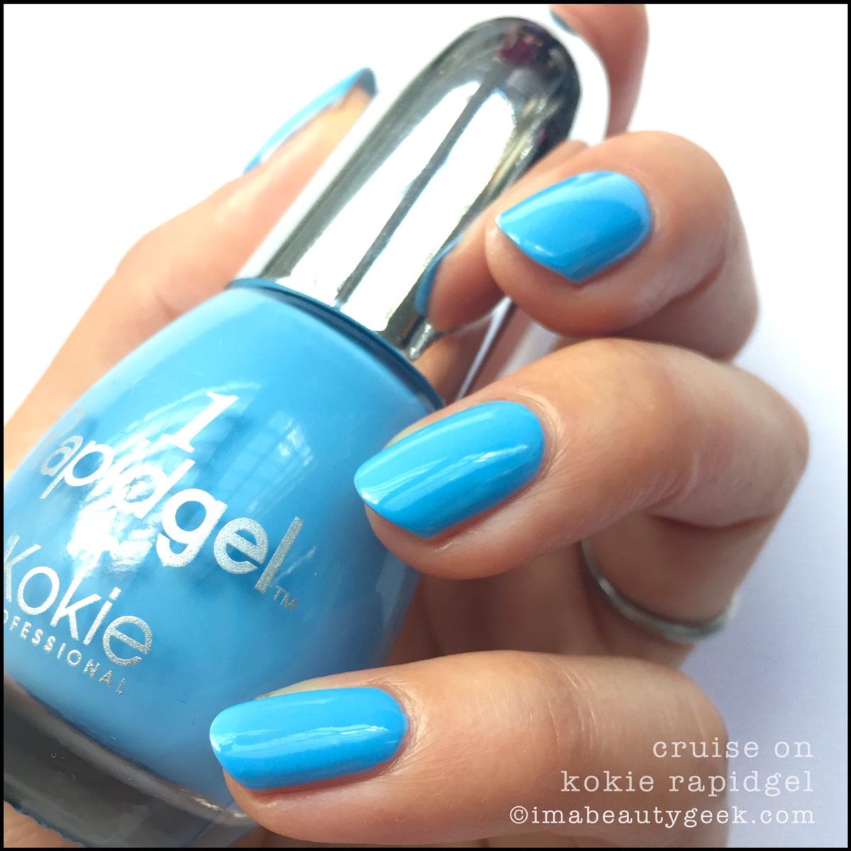 Kokie Cruise On Rapidgel Nail Polish_Kokie Professional Nail Swatches Review 2016