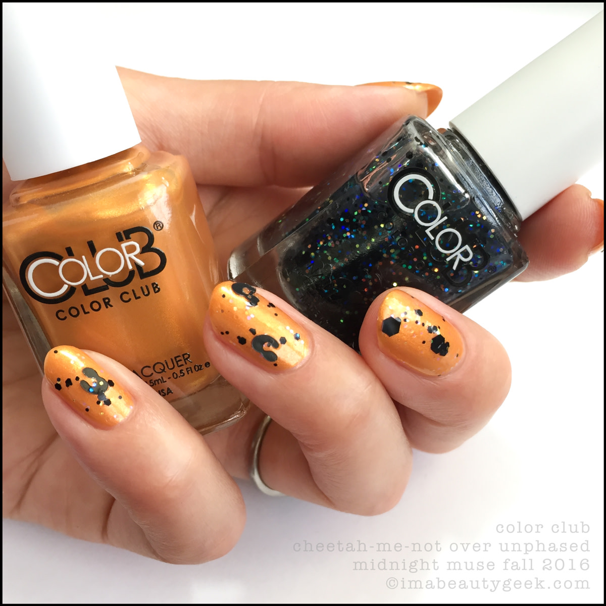 Color Club Cheetah Me Not over Unphased_Color Club Midnight Muse Collection Swatches Review Fall 2016