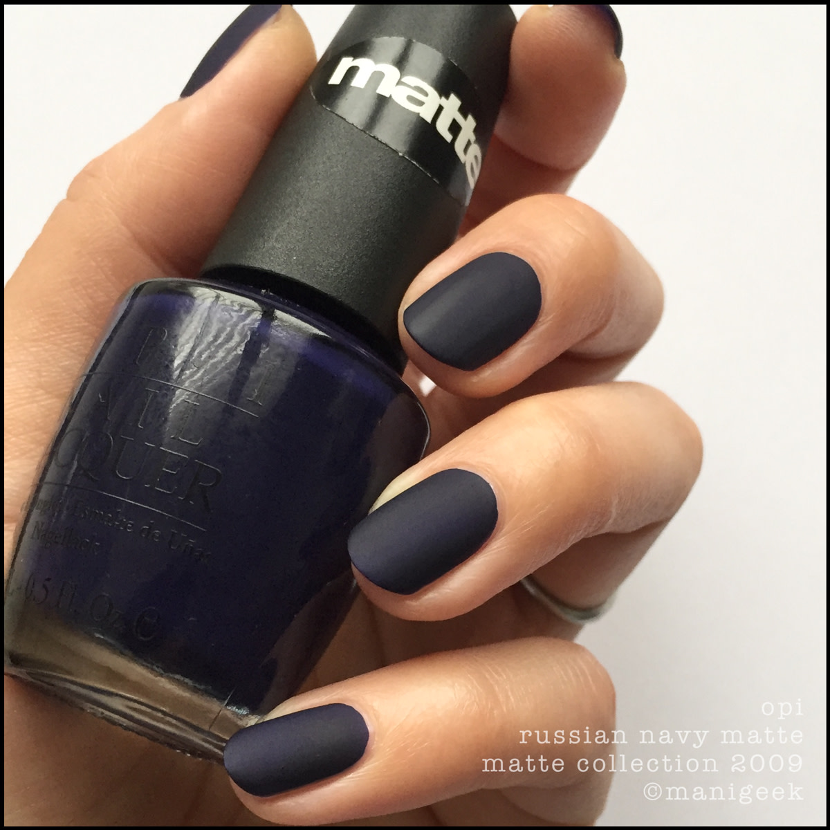 OPI Russian Navy Matte_OPI Matte Collection 2009 Swatches