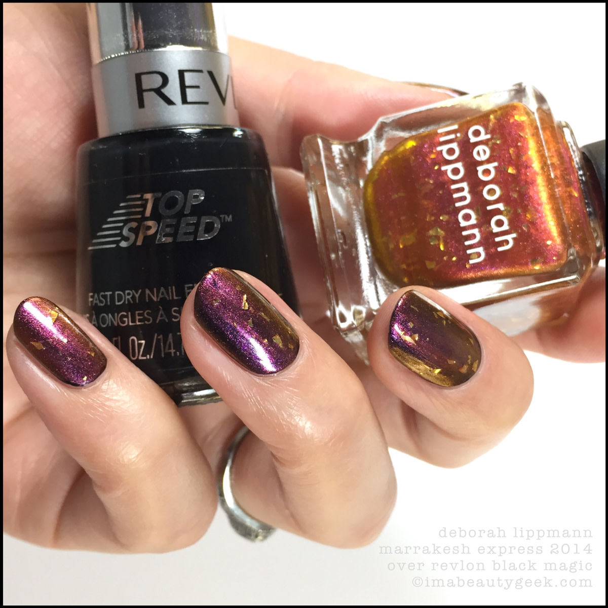 Deborah Lippmann Marrakesh Express Holiday 2014 over black