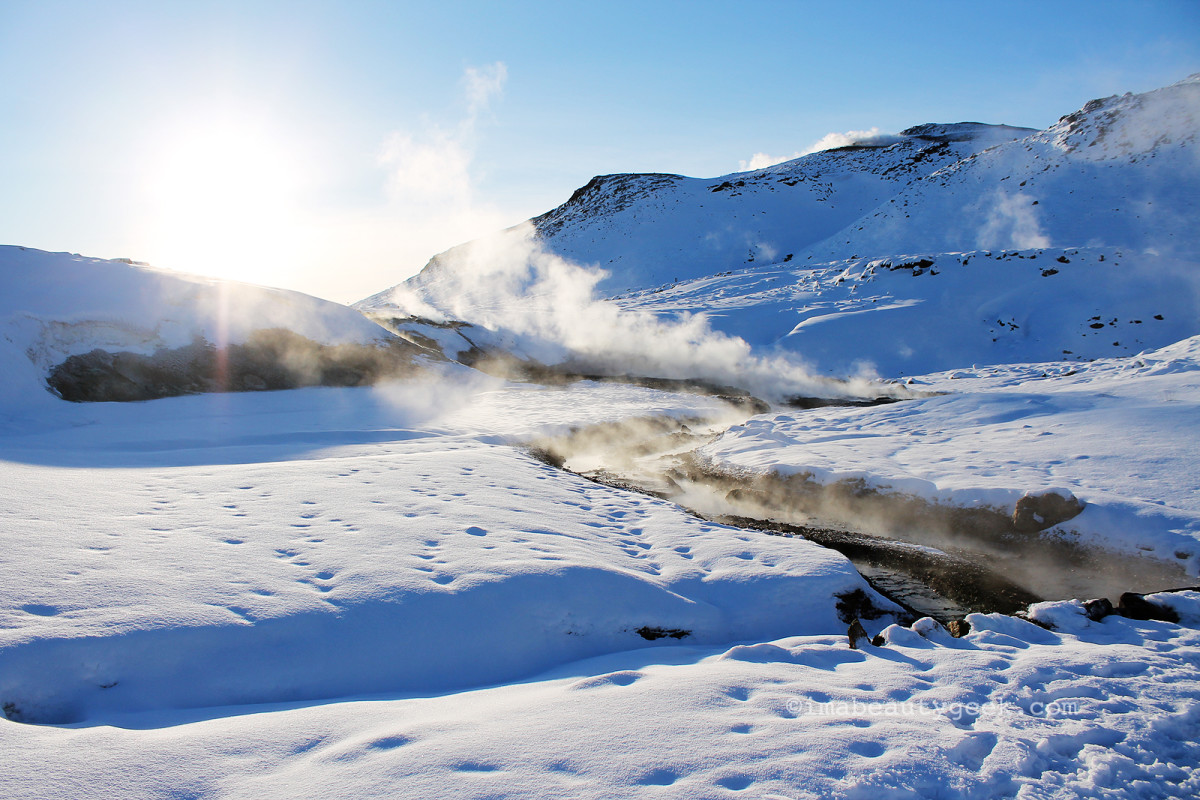 Yes, of course it's Iceland! The Seltùn geothermal pools.