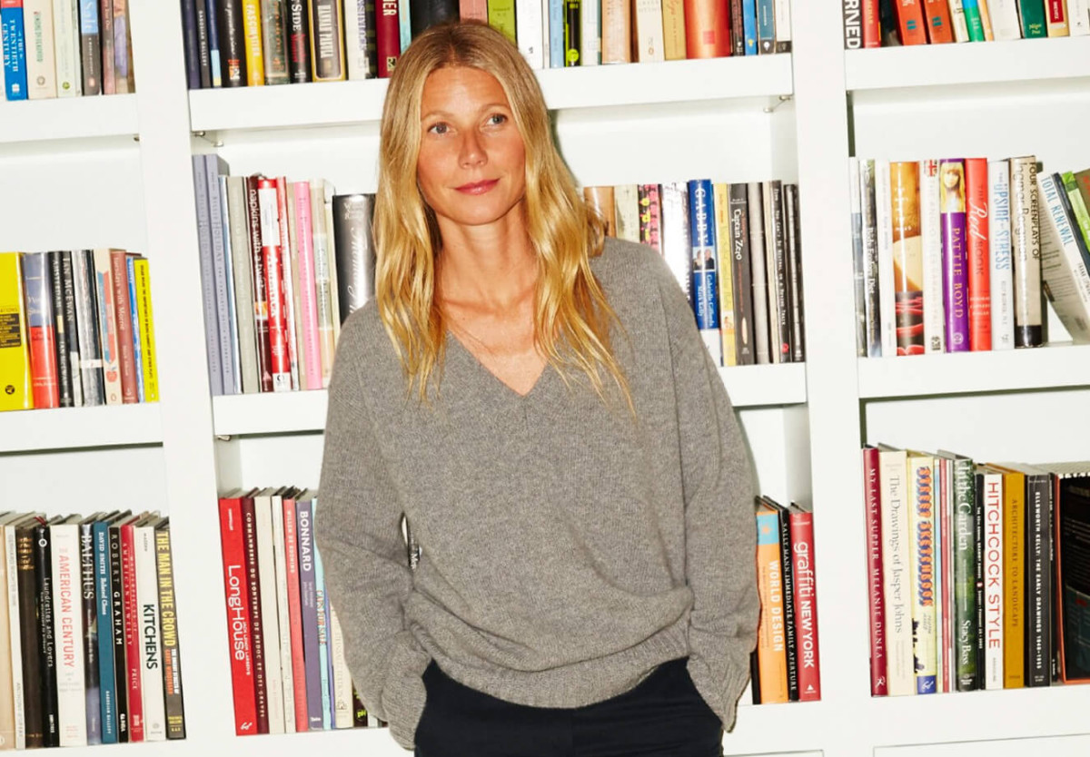 Hygge it Out: if only this slouchy-cool sweater on Gwyneth were cashmere instead of wool