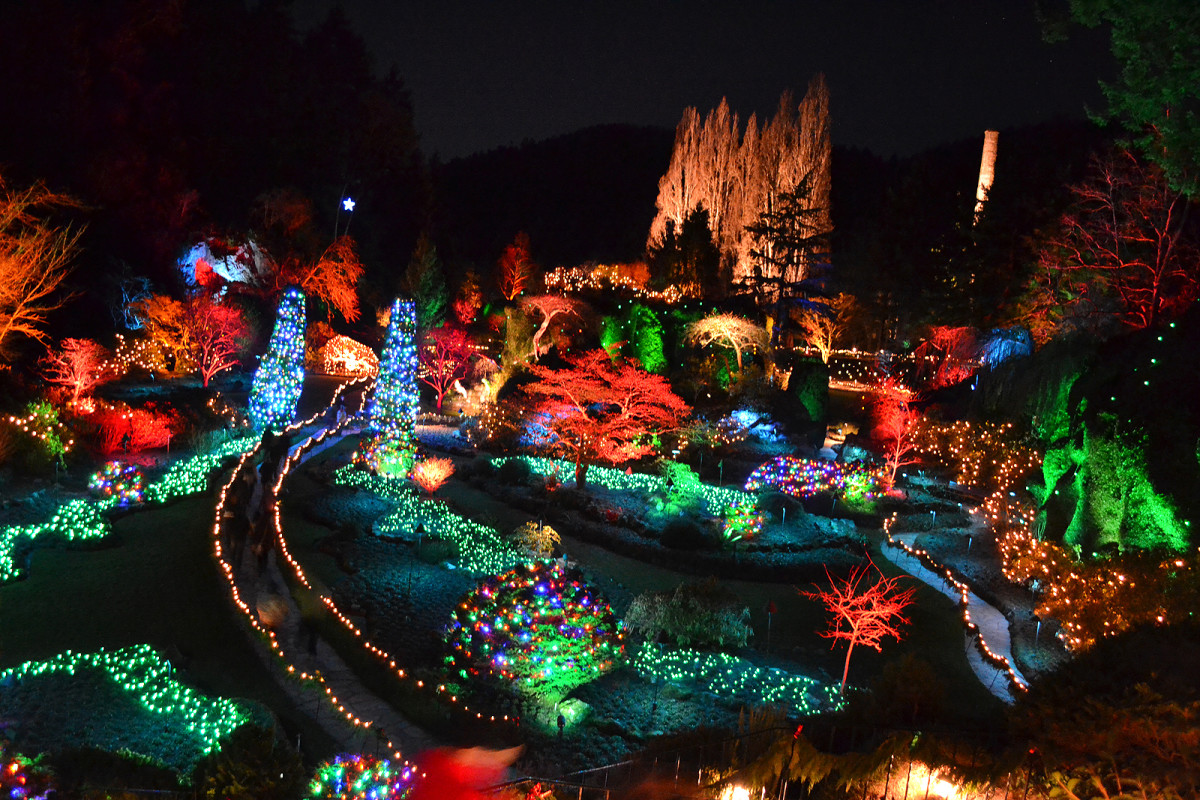 Magnolia Hotel, Victoria, BC: nearby Butchart Gardens lit up for the holidays