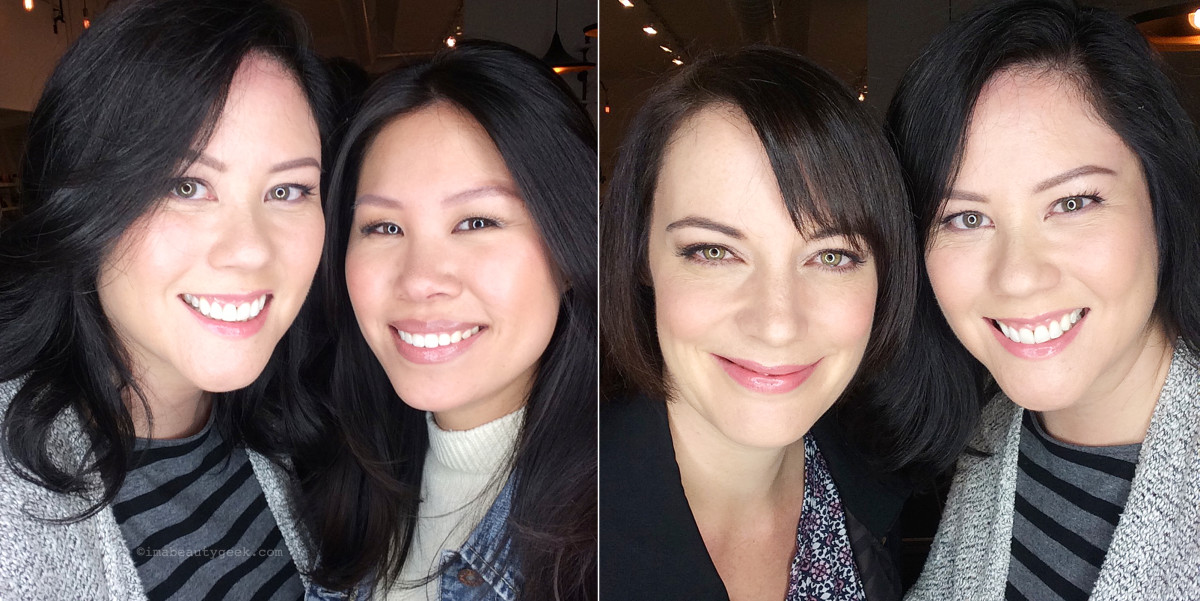 With lovely Melissa Lee and Tammy Sutherland – brunettes rule! *grin*