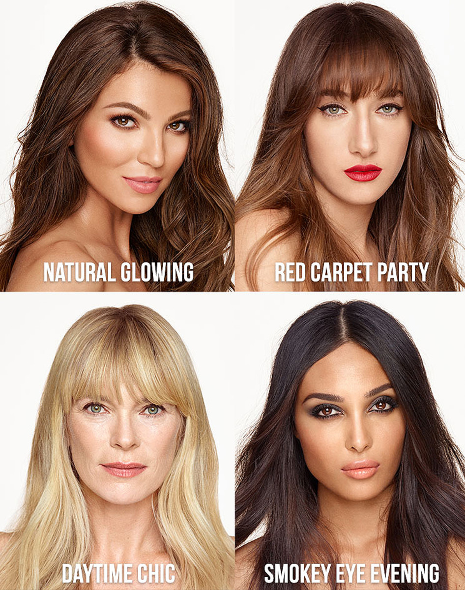 Charlotte Tilbury Quick n Easy 5-Minute Makeup sets come in these four looks.