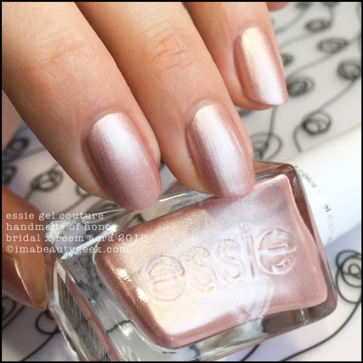 Essie Handmade of Honor - Essie Bridal x Reem Acra Gel Couture 2018