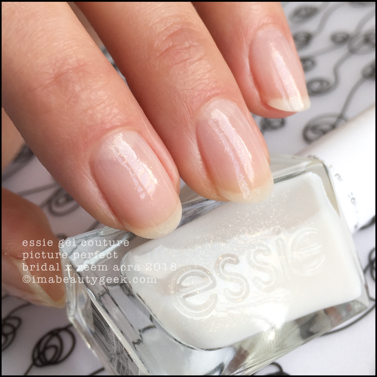 Essie Picture Perfect - Essie Bridal x Reem Acra Gel Couture 2018