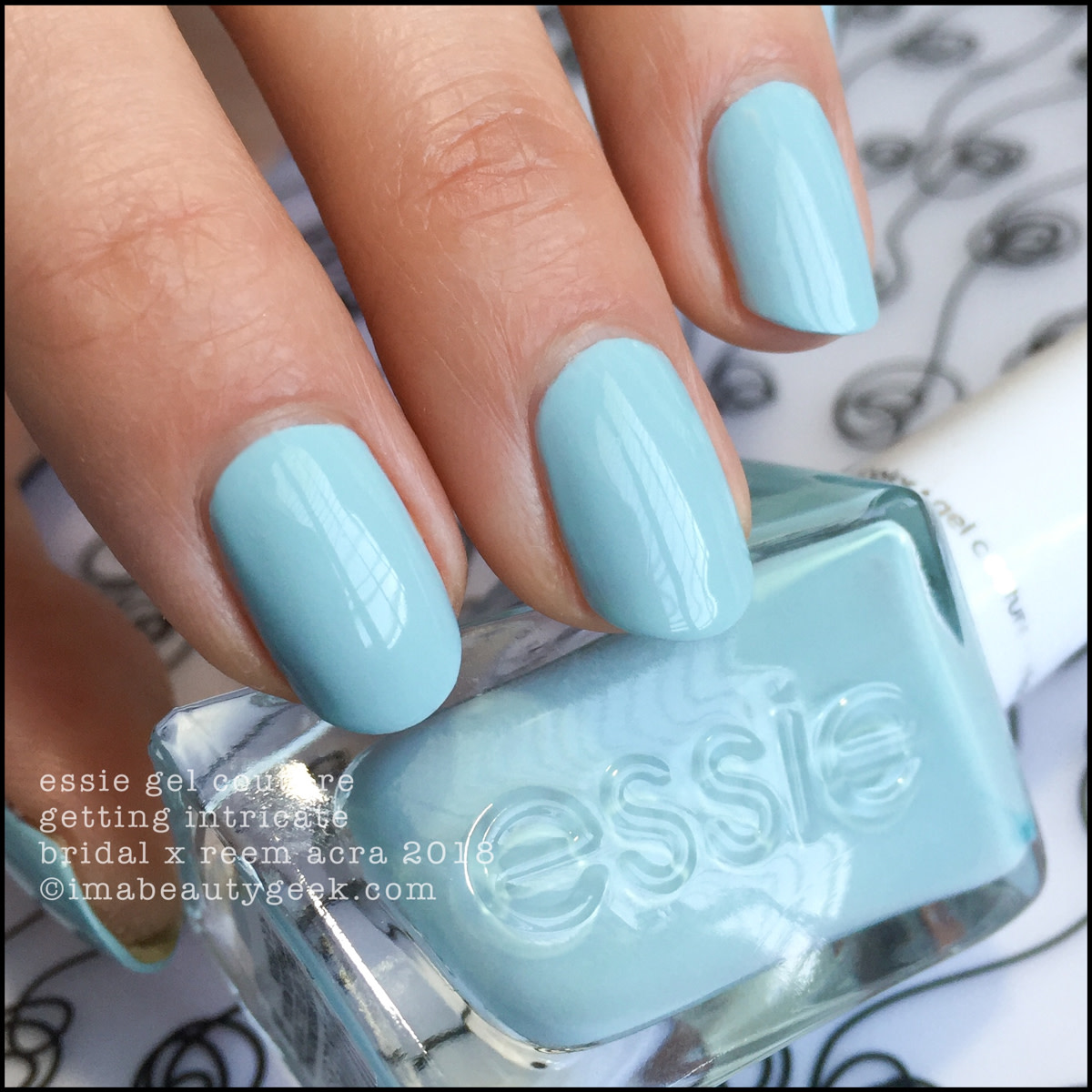 Essie Getting Intricate - Essie Bridal x Reem Acra Gel Couture 2018