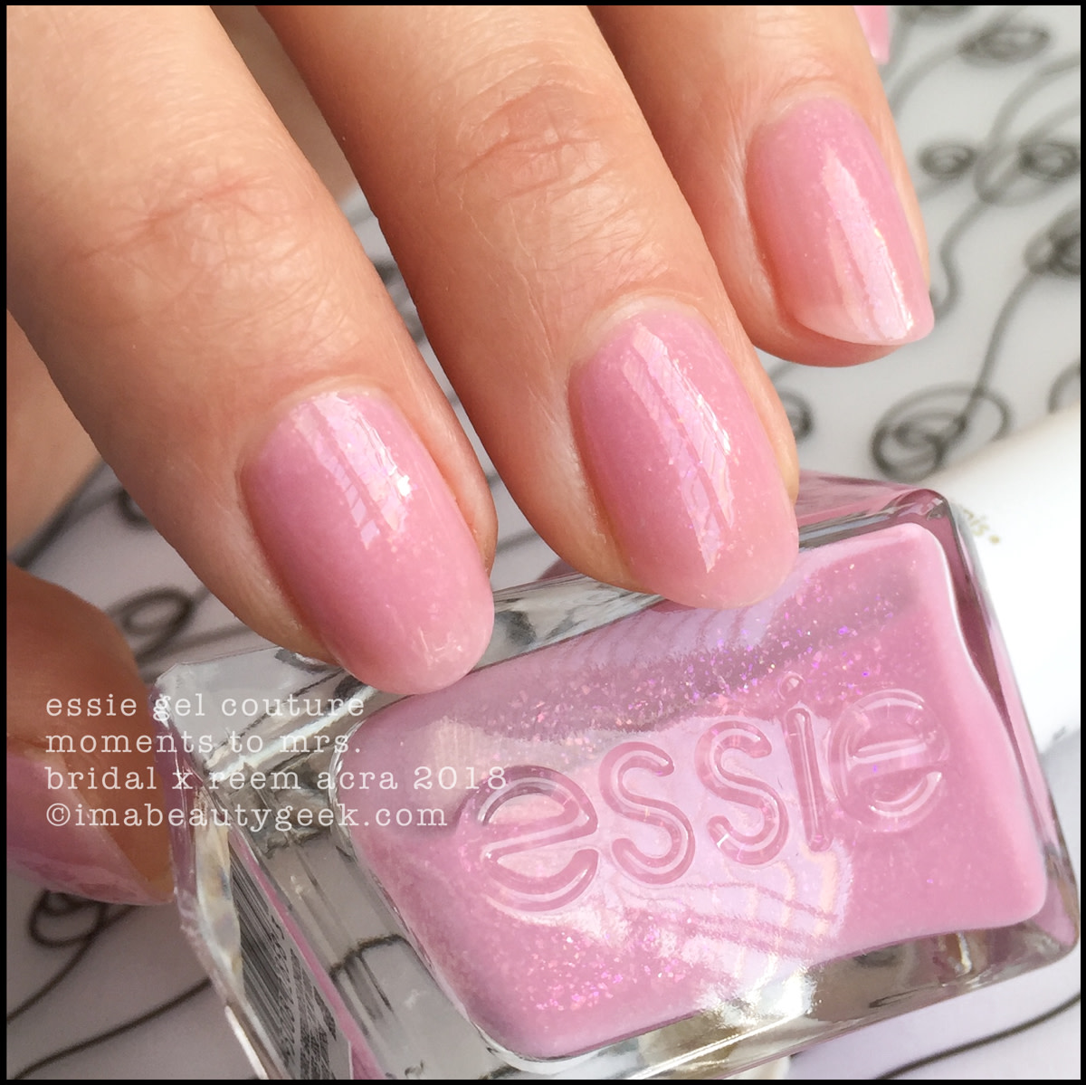 Essie Moments to Mrs - Essie Bridal x Reem Acra Gel Couture 2018 2