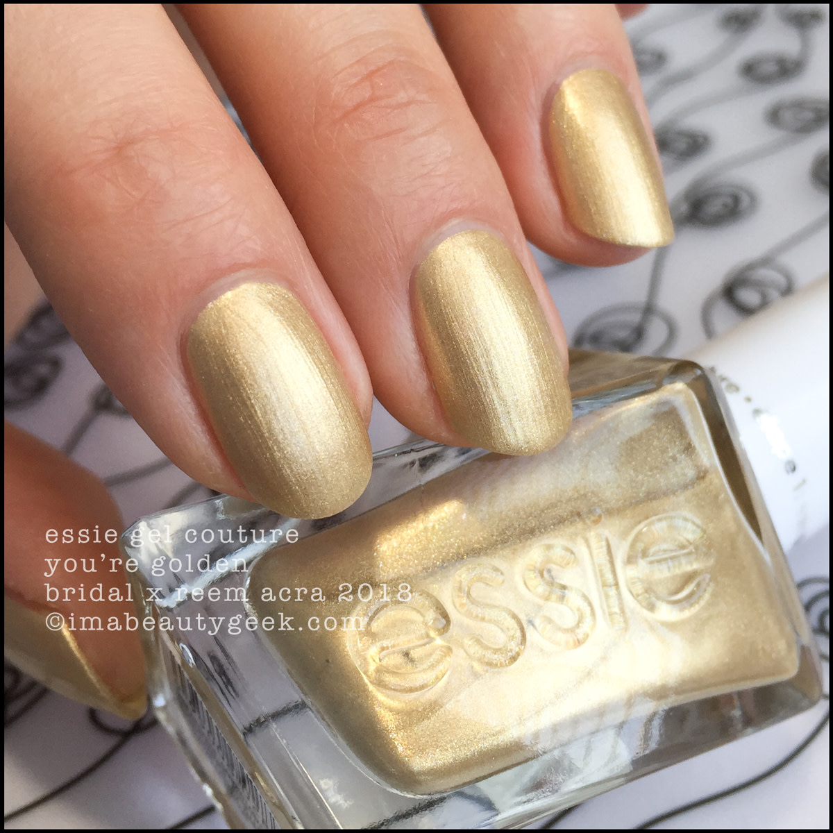 Essie You're Golden - Essie Bridal x Reem Acra Gel Couture 2018