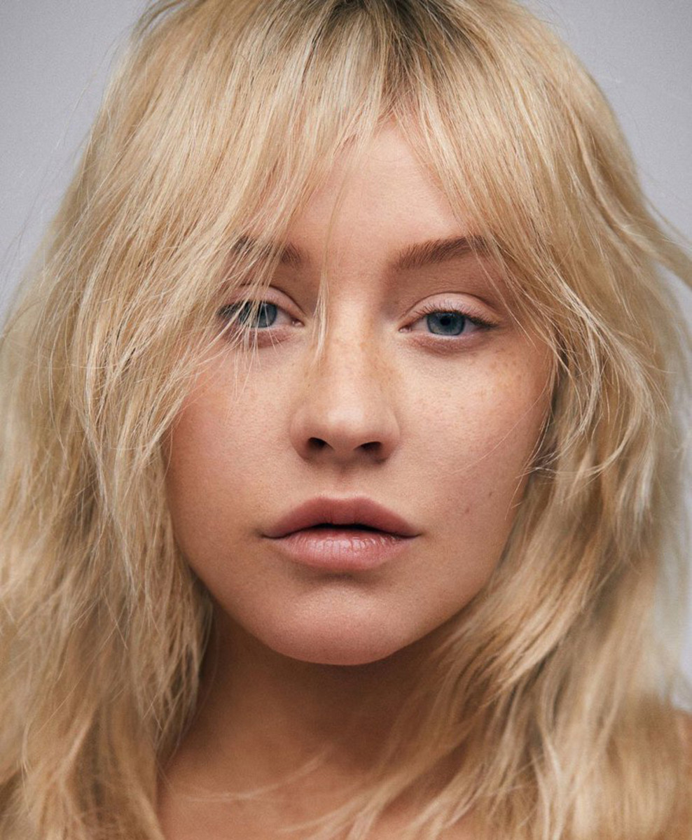 Christina Aguilera's pared-way-down beauty for Paper magazine, March 2018. Photo: Zoey Grossman.
