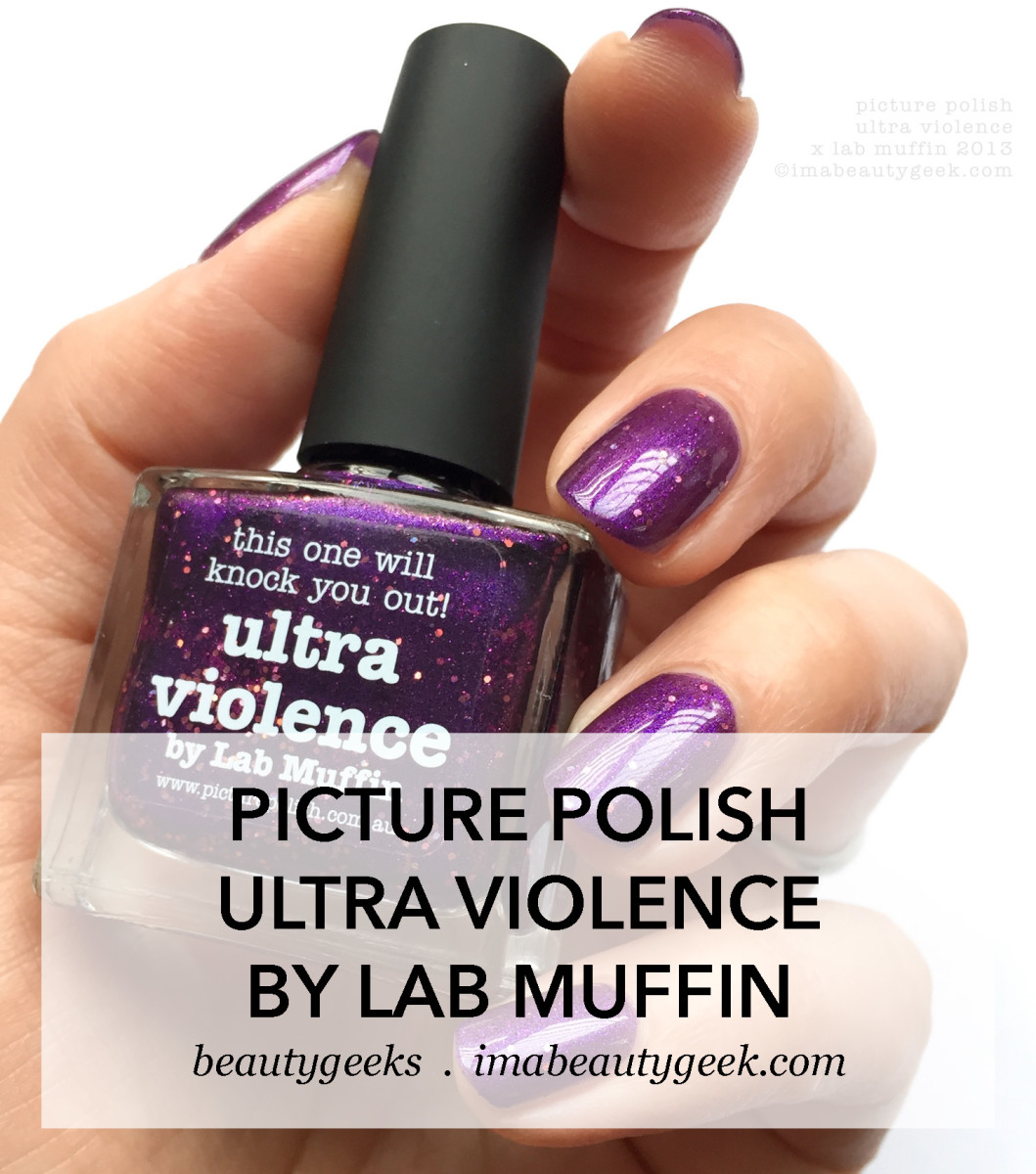 Picture Polish Ultra Violence by Lab Muffin 2013 Collab